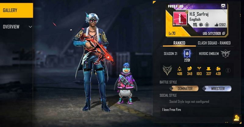 Helping Gamer's Free Fire ID is 517121909