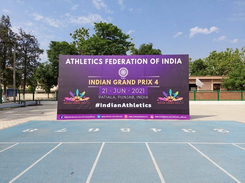 Indian Grand Prix 4 being held Patiala (Credit: Athletics Federation of India/Twitter)