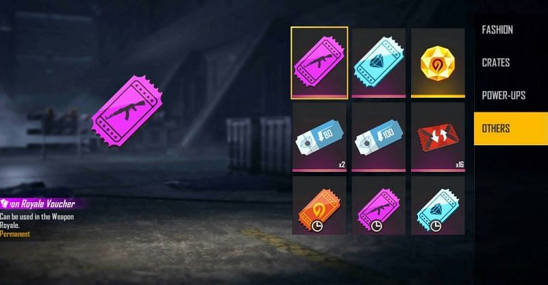 Diamond Royale Voucher and Weapon Royale Voucher are the rewards for one of the codes