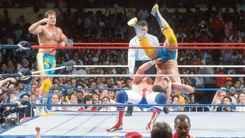 The Rougeau Brothers vs. The British Bulldogs