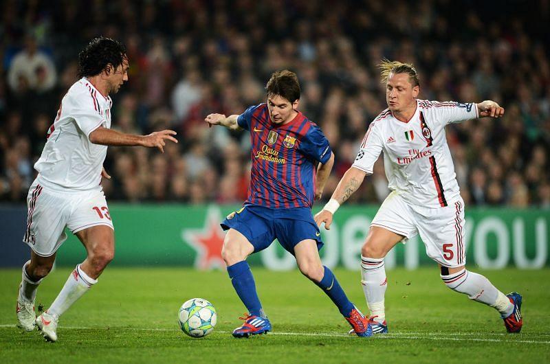 FC Barcelona v AC Milan - UEFA Champions League Quarter Final (2011-12)