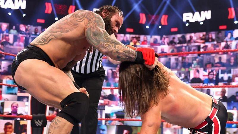 Jaxson Ryker and AJ Styles in WWE