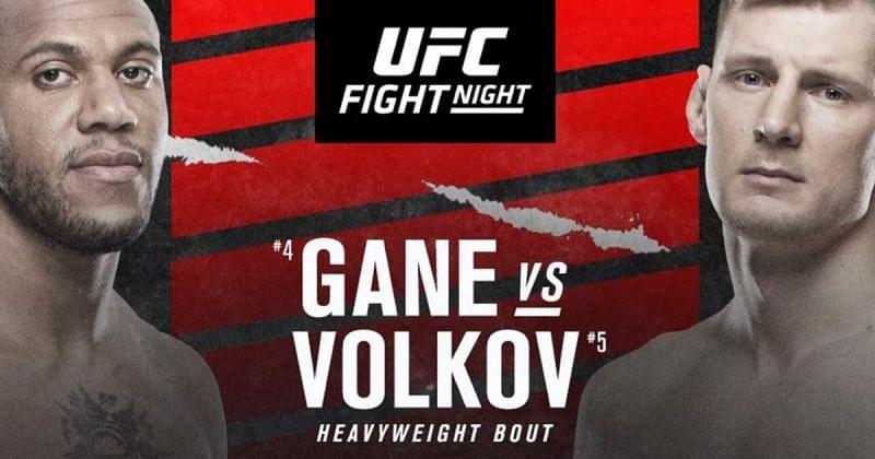 Ciryl Gane vs Alexander Volkov poster