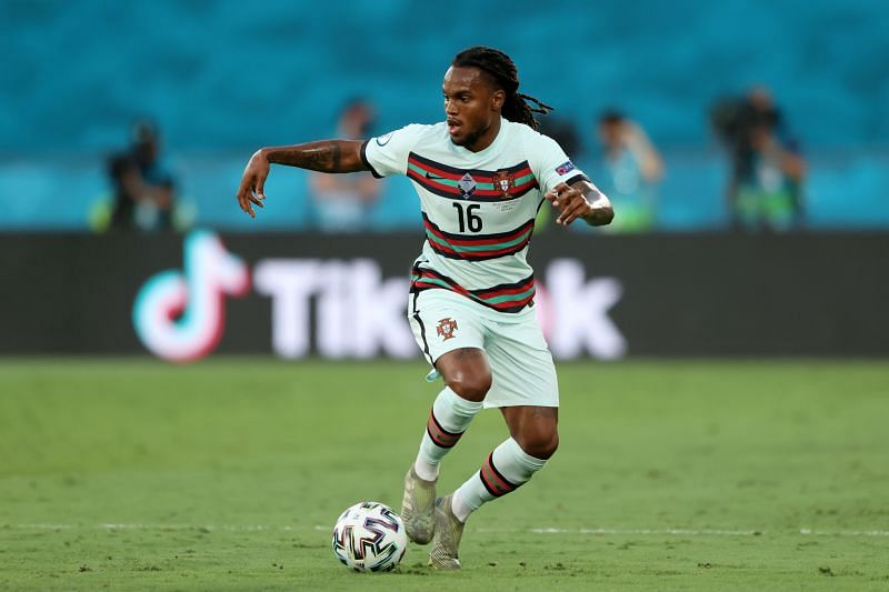 Renato Sanches in action for Portugal