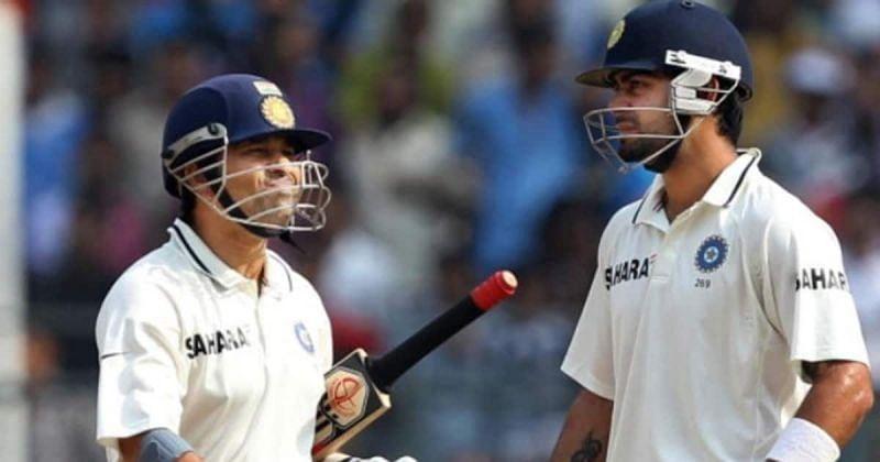 Sachin Tendulkar (left) and Virat Kohli (Photo: Twitter)