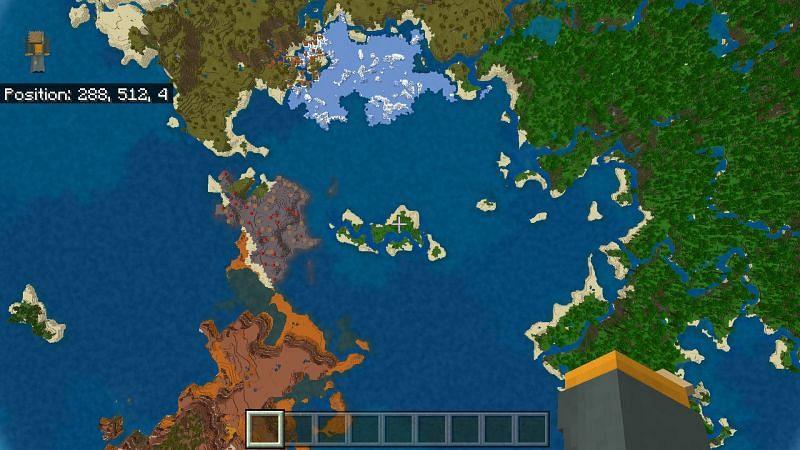 Minecraft biomes close to spawn (Image via u/SwartyNine2691 on Reddit)
