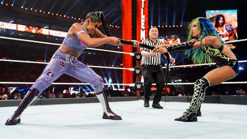 Sasha Banks took on Bianca Belair at WrestleMania 37