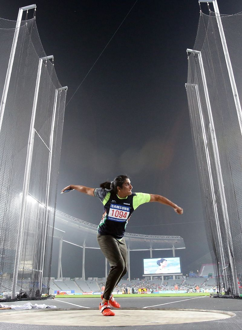 Seema Punia will be looking to qualify for her 4th Olympics at the Interstate Athletics Championships