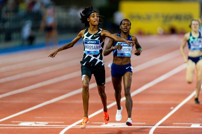 Sifan Hassan wins the 1500m at the Rome/Florence Diamond League