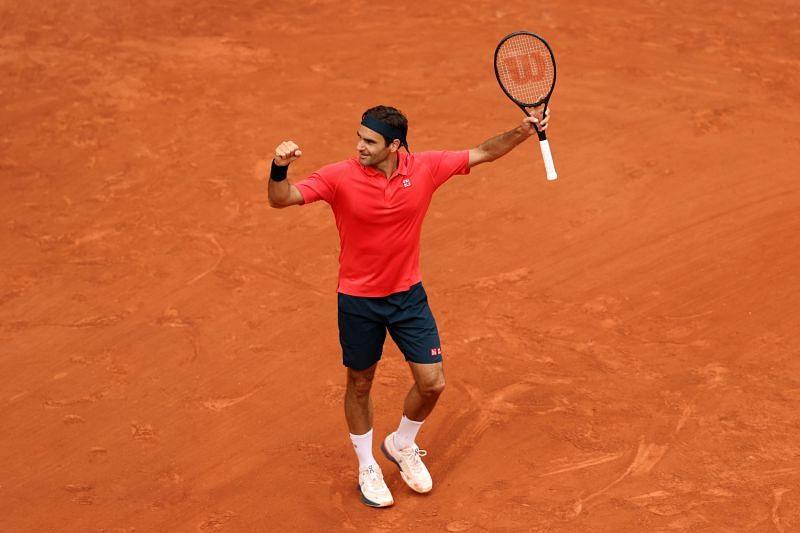 Roger Federer at Roland Garros 2021
