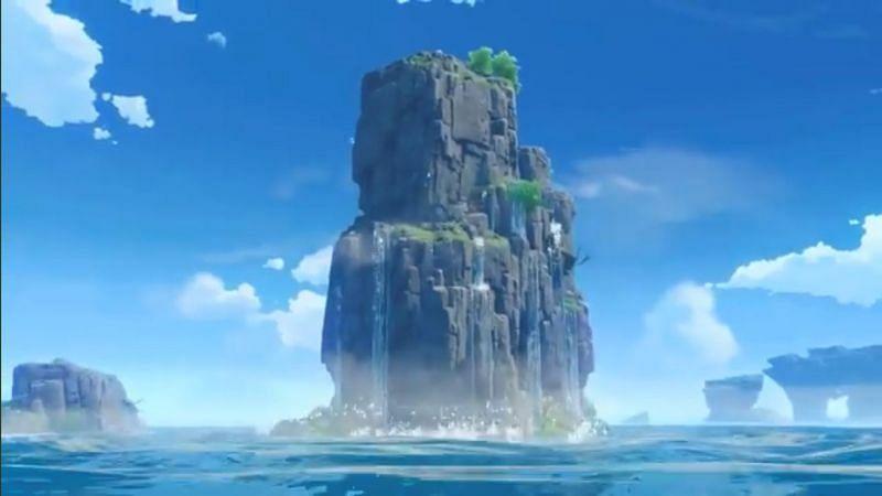 Cutscene island view (image via Dimbreath)