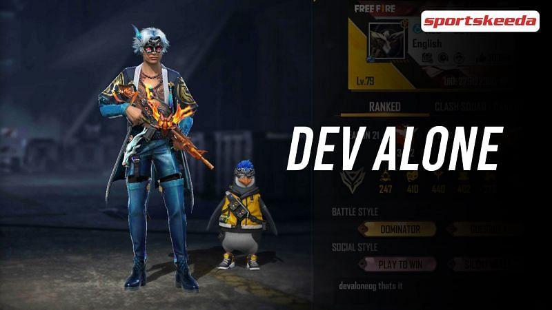 Dev Alone's Free Fire details