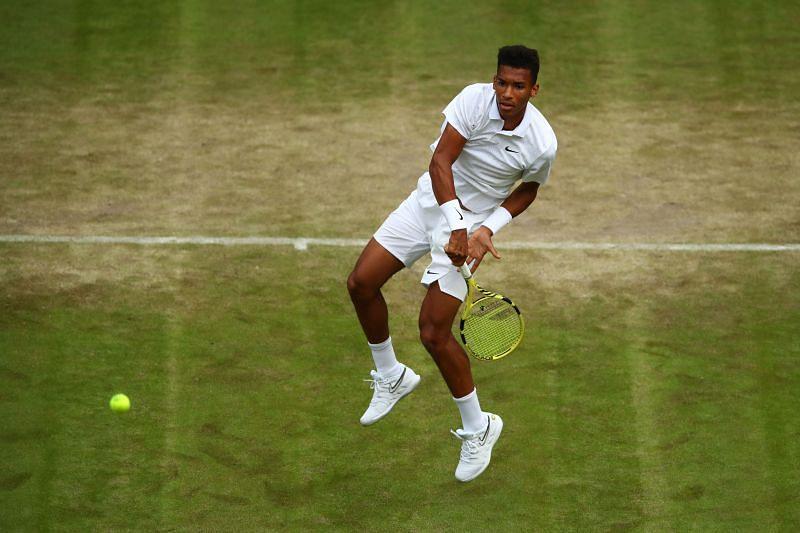 Felix Auger-Aliassime at Wimbledon 2019