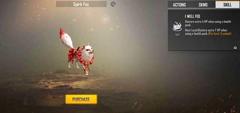 Free Fire में Spirit Fox