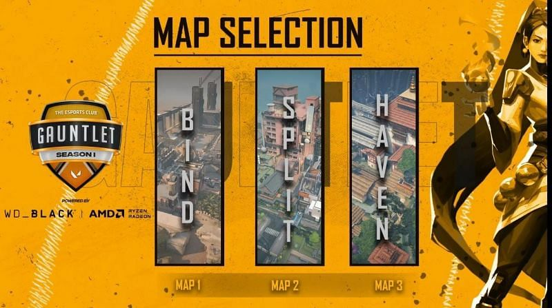 Velocity Gaming vs DirectGharPe Selected Maps (Image via YouTube/The Esports Club)