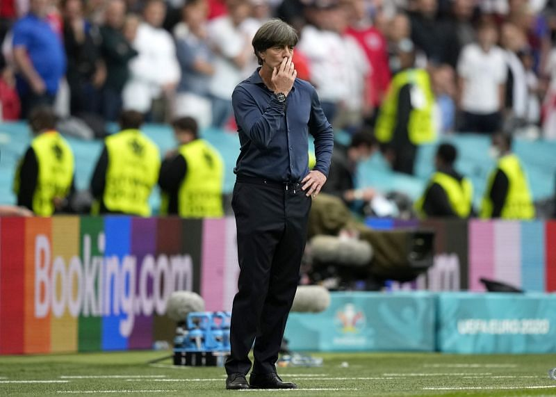 Germany coach Joachim Low looks on during his side