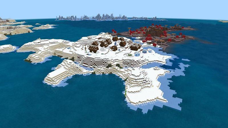 Snow village (Image via u/ricecake1111113)
