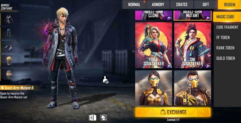 Beast-Arm Mutant bundle in Free Fire
