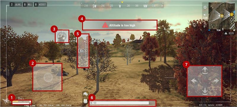 Search drones can be used to scout an area (Image via PUBG New State)