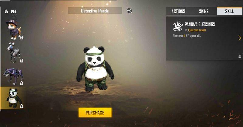 Detective Panda in Free Fire