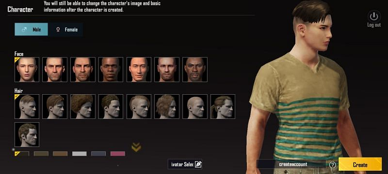 Create a new character