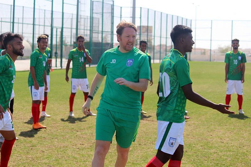 Coach Jamie Day hopes his side can pull off an upset against India. (Picture courtesy: Bangladesh Football Federation website)