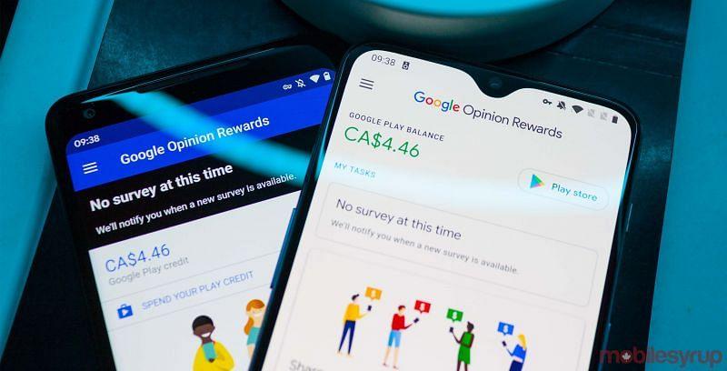 Google Opinion Reward Application (Image via mobilesyrup)
