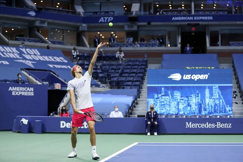 The 2020 US Open being held in the absence of fans