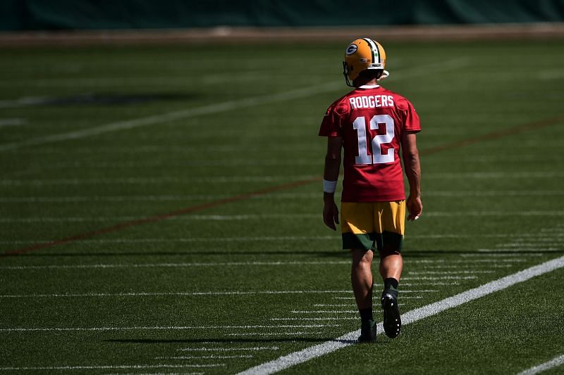 Aaron Rodgers Green Bay Packers Training Camp