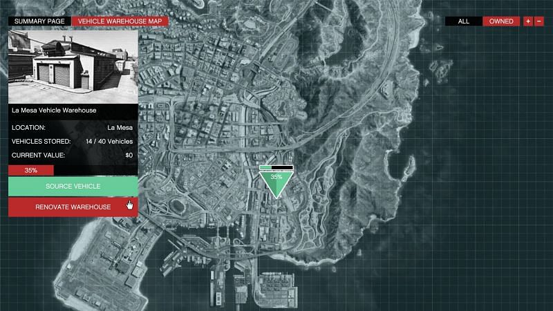 SecuroServ screen displayed when searching for vehicles (Image via GTA Wiki)