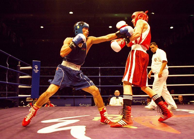 Veteran boxer Ngangom Dingko Singh during his playing days