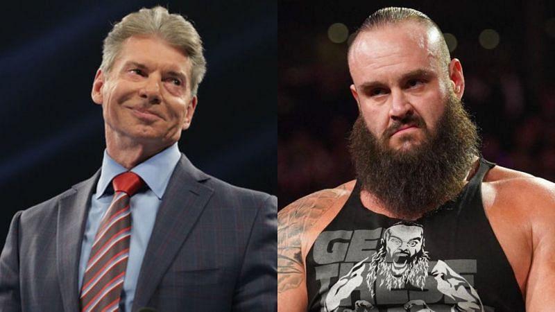 Vince McMahon (left); Braun Strowman (right)