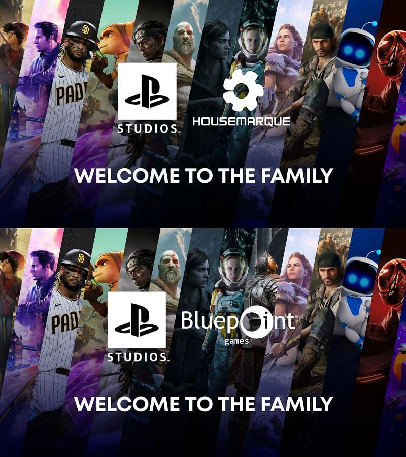 announcement comparison of Housemarque and Bluepoint (Image by PlayStation)