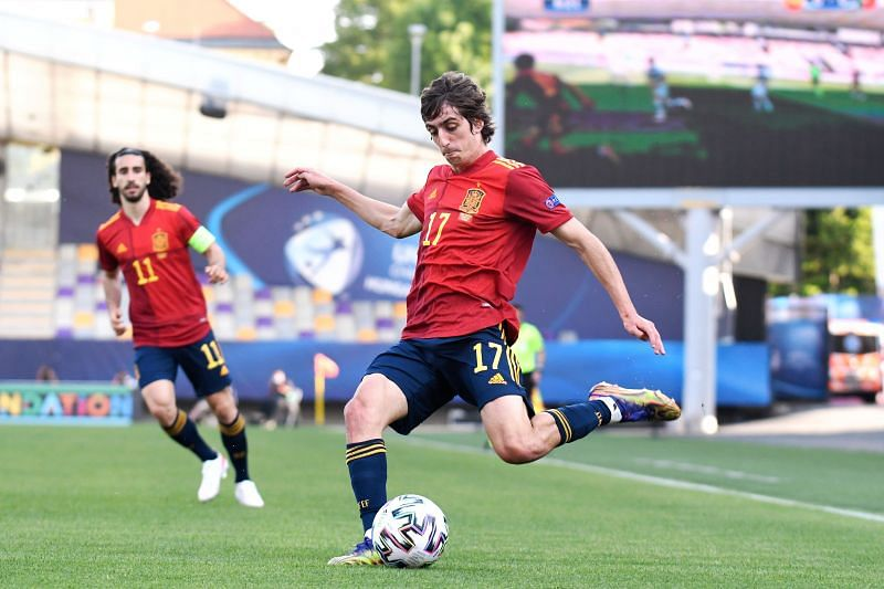 Bryan Gil in action for Spain in the 2021 UEFA European Under-21 Championship