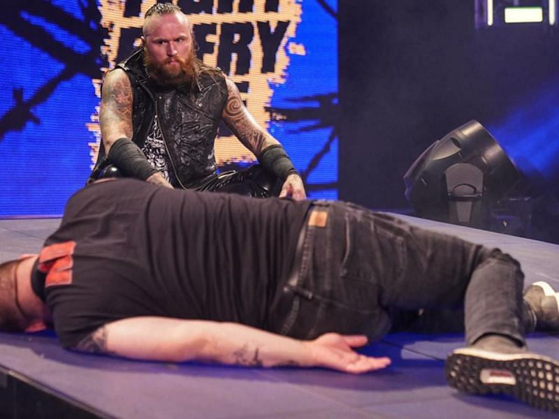 Aleister Black and Kevin Owens in WWE