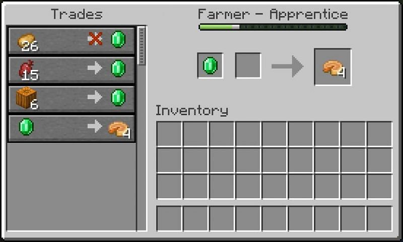 Trading pumpkins (Image via Minecraft Wiki)