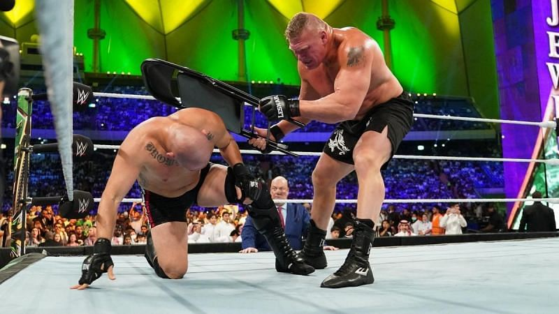 Cain Velasquez lost to Brock Lesnar in his only televised WWE match