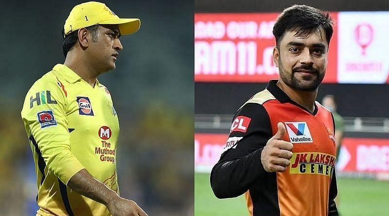 एम एस धोनी और राशिद खान