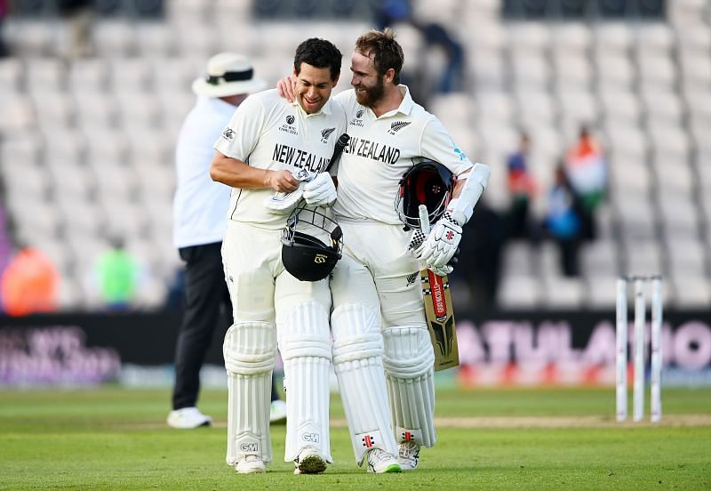 Ross Taylor and Kane Williamson (right)