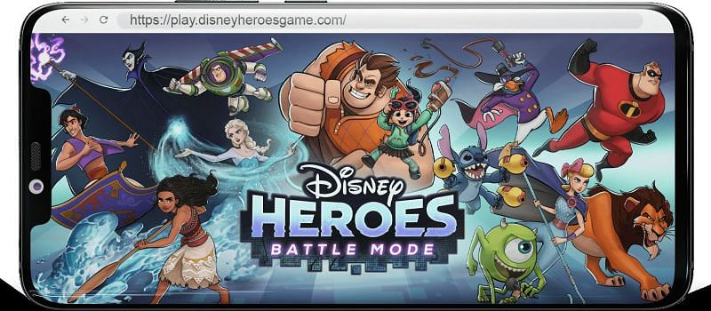 The loading screen of Disney Heroes Battle Mode (Image via now.gg)