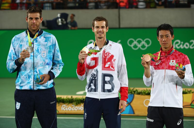 Winners of the men's singles event at the 2016 Rio Olympics
