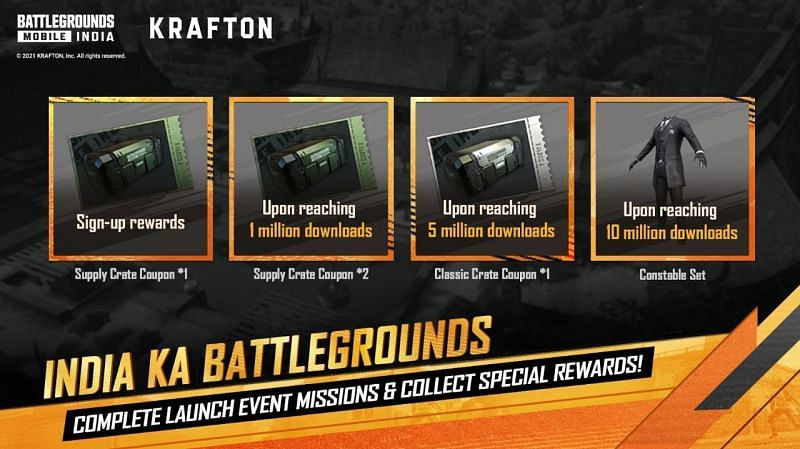 Players can claim these rewards once the game reaches the given download thresholds