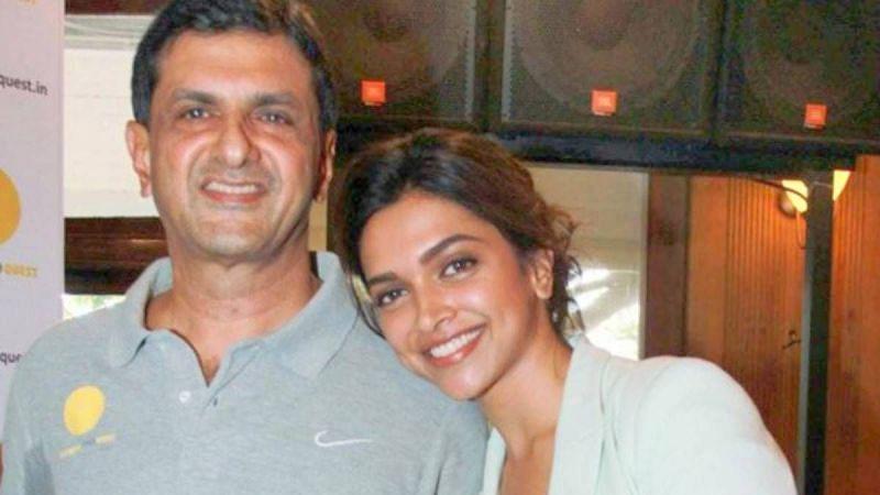 Prakash Padukone with his actress daughter Deepika