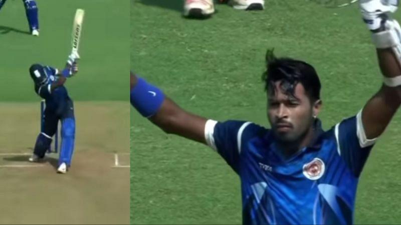 Hardik Pandya played a match-winning knock for Baroda in the 2015/16 Syed Mushtaq Ali Trophy.