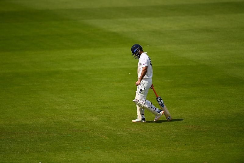 Rishabh Pant walks off after being dismissed. Pic: Getty Images