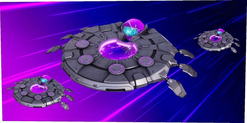 Loopers can hijack UFOs and drive them in Fortnite Season 7 (Image via Twitter)