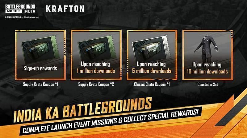 Battlegrounds Mobile India is offering various rewards