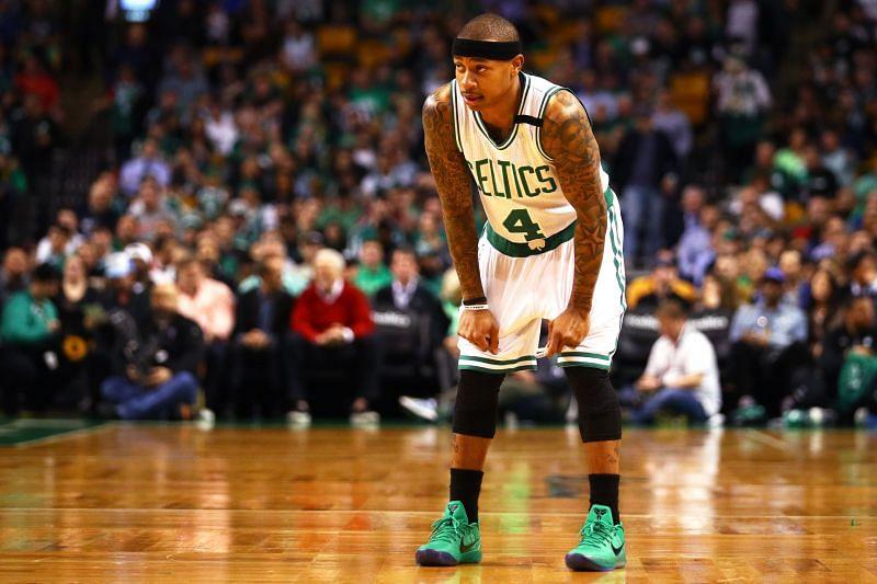 Isaiah Thomas with the Boston Celtics against the Washington Wizards