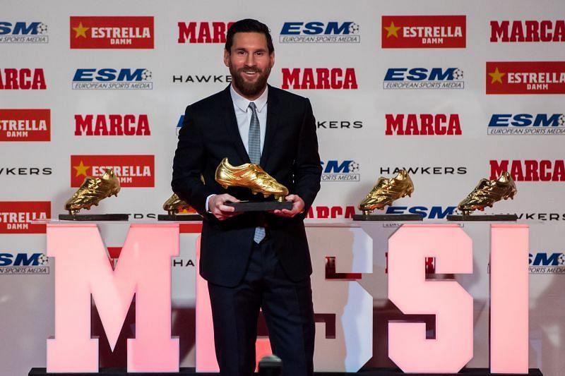 Lionel Messi won his sixth European Golden Shoe Award in the 2018-19 season