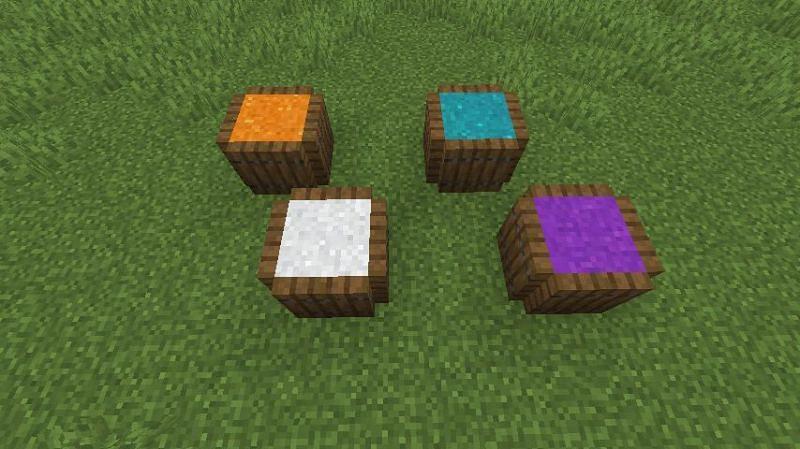 "A player uses concrete powder to create ""spice barrels"" (Image via u/OhNoCrumbs on Reddit)"